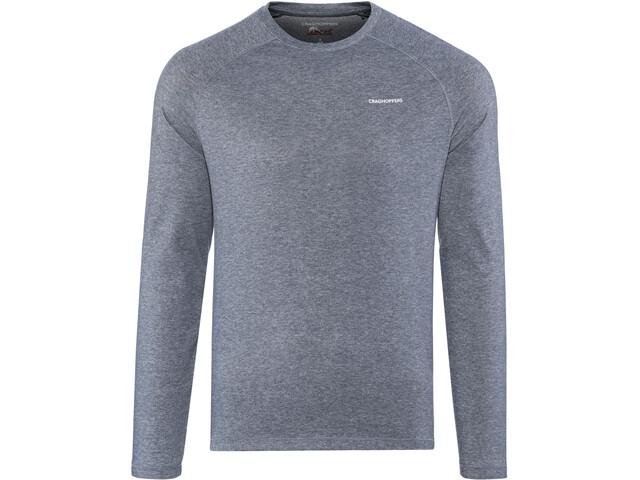 Craghoppers NosiLife Bayame II Longsleeve T-Shirt Heren, soft navy marl